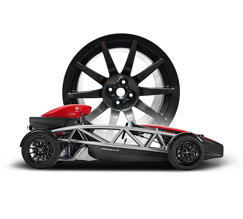 Ariel Atom 4 with BST Carbon Fibre Car Wheels