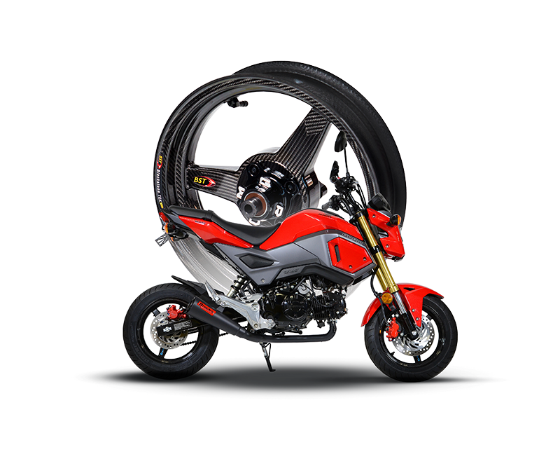 Honda Grom Carbon Fibre Wheels